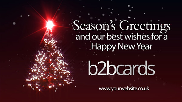b2bcards corporate christmas eacrd ref:B2BV-233495511, Christmas Tree,Sparkly, Black,Red,White