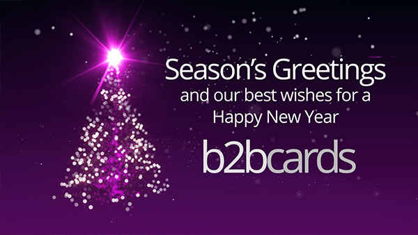 b2bcards corporate christmas eacrd ref:B2BV-234396038, Christmas Tree,Sparkly, Pink,Purple