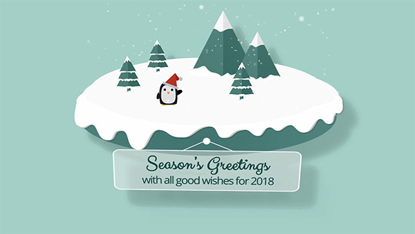 b2bcards corporate christmas eacrd ref:B2BV-234747855, Scenery,Santa,Snowman, Colours,Teal