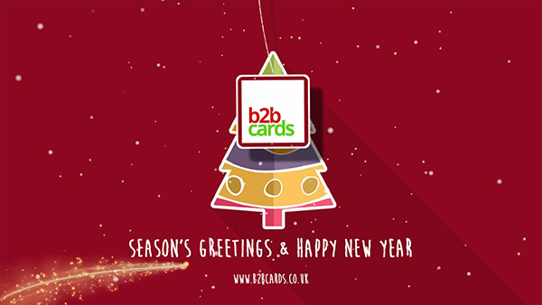 b2bcards corporate christmas eacrd ref:B2BV-234993153, Christmas Tree,Minimal, Red,Maroon
