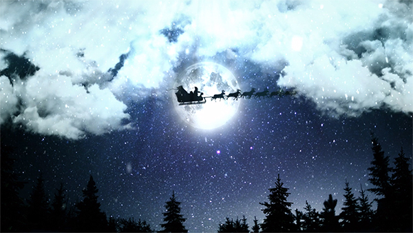 b2bcards corporate christmas eacrd ref:B2BV-235358679, Scenery,Moon,Santa, Colours