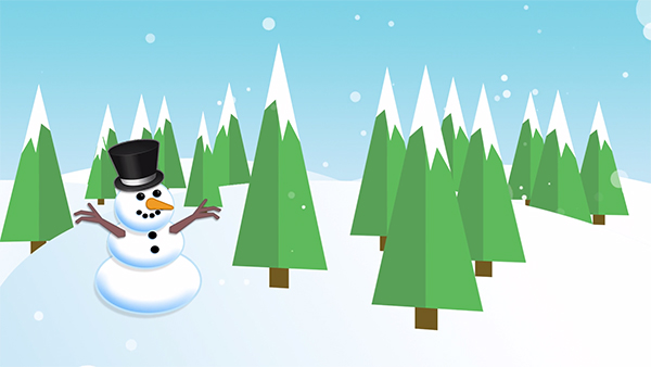 b2bcards corporate christmas eacrd ref:235823584.jpg, Scenery,Snowman,Snow, Blue,Green,Colours