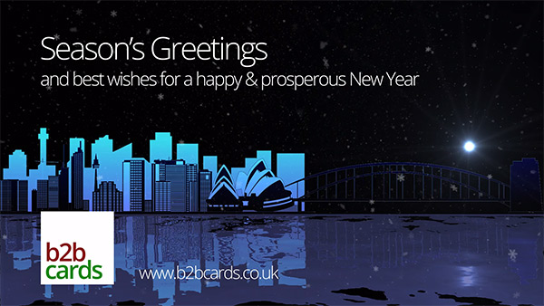b2bcards corporate christmas eacrd ref:B2BV-236001273, Scenery,Sydney,Snow, Purple,Colours