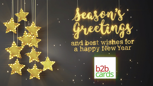 b2bcards corporate christmas eacrd ref:B2BV-236804507, Stars, Gold