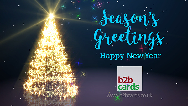 b2bcards corporate christmas eacrd ref:237413188.jpg, Sparkly,Christmas Tree, Red,Colours