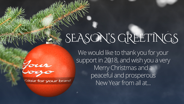 b2bcards corporate christmas eacrd ref:286025571.jpg, Baubles,Snow,Christmas Tree,Sparkly, Colours,White