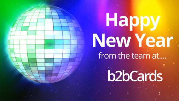 b2bcards corporate christmas eacrd ref:286355557.jpg, Disco,New Year, Colours,Yellow,Red,Blue,Green,Gold