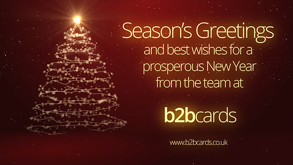 b2bcards corporate christmas eacrd ref:287989778.jpg, Sparkly,Christmas Tree,Snow, Red,Gold