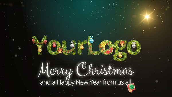 b2bcards corporate christmas eacrd ref:289691650.jpg, Garland,Wreath,Baubles,Presents,Snow, Green,Colours,Red