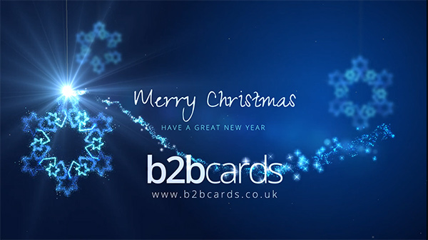 b2bcards corporate christmas eacrd ref:296024804.jpg, Sonwflakes,Sparkly, Blue,Silver,White