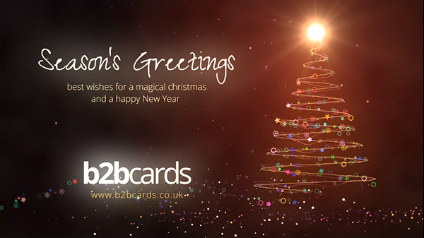 b2bcards corporate christmas eacrd ref:297702436.jpg, Christmas Tree,Sparkles,Baubles, Red,Gold,Colours