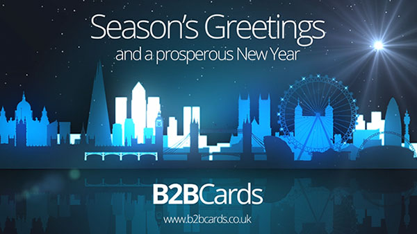 b2bcards corporate christmas eacrd ref:359276756.jpg, London,Cityscape, Blue,white,Black