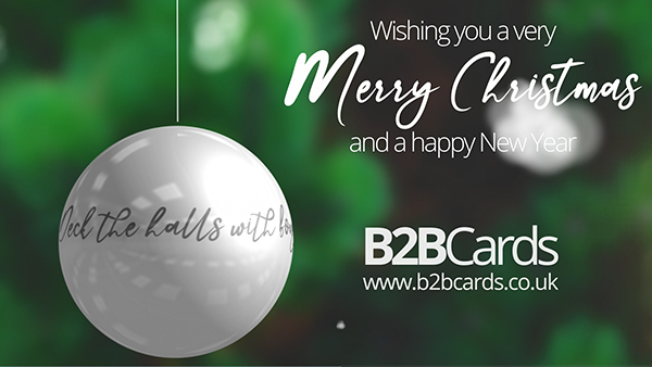 b2bcards corporate christmas eacrd ref:361318797.jpg, Holly,Baubles,Snow, Green,White