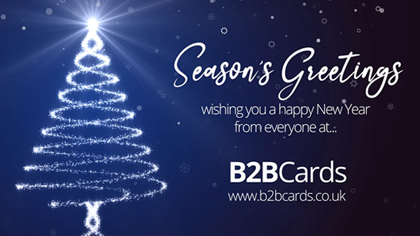 b2bcards corporate christmas eacrd ref:368536979.jpg, Christmas Tree,Sparkly, Blue,Silver,White