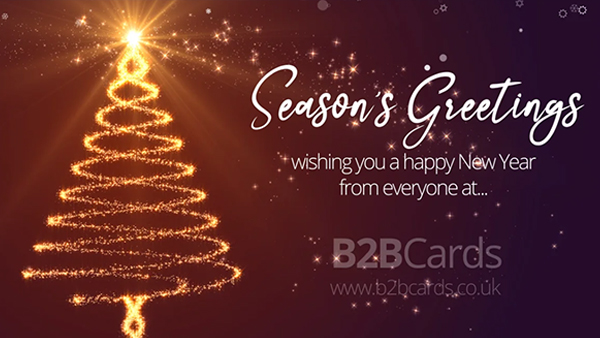 b2bcards corporate christmas eacrd ref:368537188.jpg, Christmas Tree,Sparkly, Red,Gold