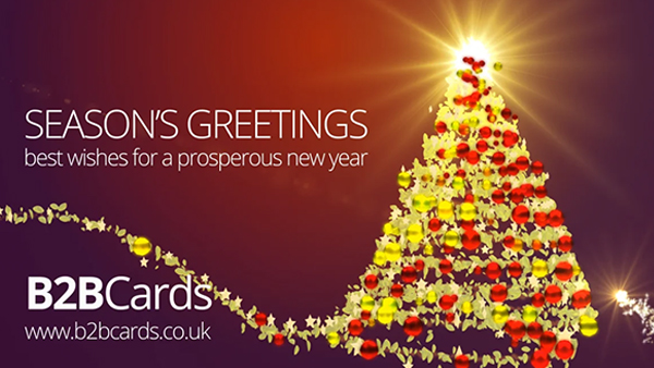 b2bcards corporate christmas eacrd ref:368537437.jpg, Christmas Tree,Holly,Baubles, Colours