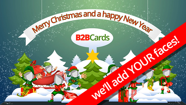 b2bcards corporate christmas eacrd ref:374943060.jpg, Dancing,Elves,Pop Up,Card, Colours,Red,Green,Shite
