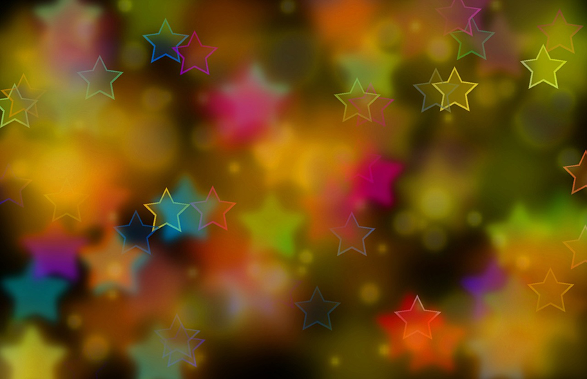 b2bcards corporate christmas eacrd ref:b2b-ecards-abstract-stars-colours-803.jpg, Abstract,Stars, Colours