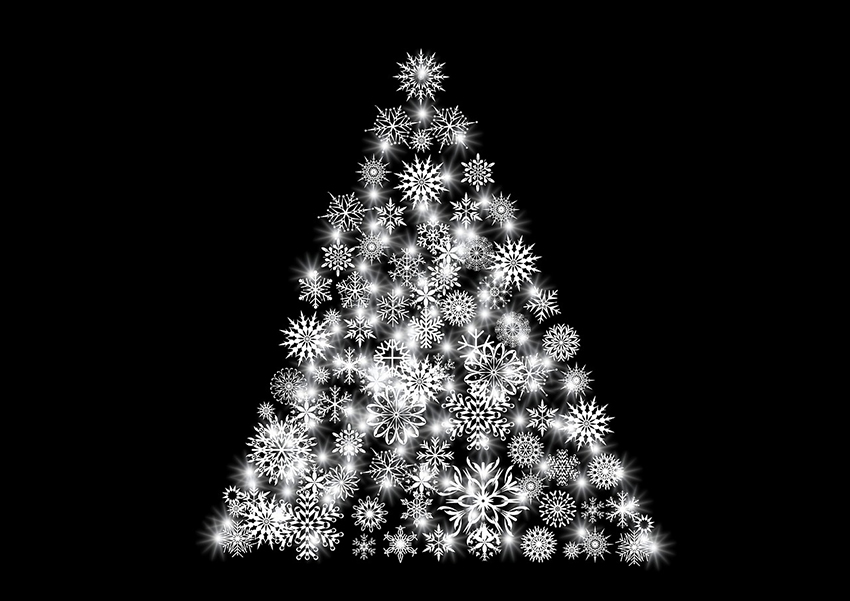 b2bcards corporate christmas eacrd ref:b2b-ecards-artwork-illustrations-christmas-tree-black-white-851.jpg, Artwork,Illustrations,Christmas Tree, Black,White