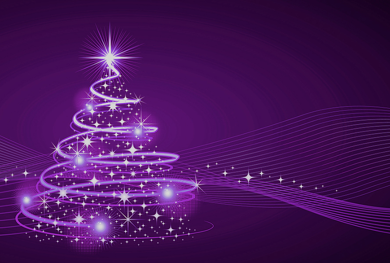 b2bcards corporate christmas eacrd ref:b2b-ecards-artwork-illustrations-christmas-tree-purple-1028.jpg, Artwork,Illustrations,Christmas Tree, Purple