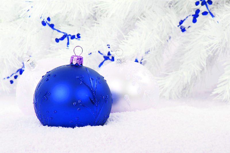 b2bcards corporate christmas eacrd ref:b2b-ecards-baubles-blue-521.jpg, Baubles, Blue