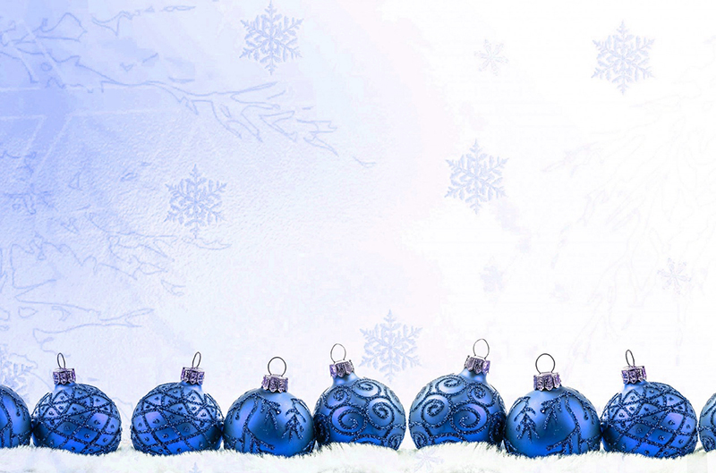 b2bcards corporate christmas eacrd ref:b2b-ecards-baubles-blue-581.jpg, Baubles, Blue
