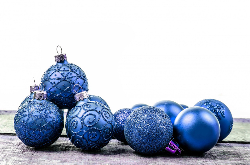 b2bcards corporate christmas eacrd ref:b2b-ecards-baubles-blue-591.jpg, Baubles, Blue