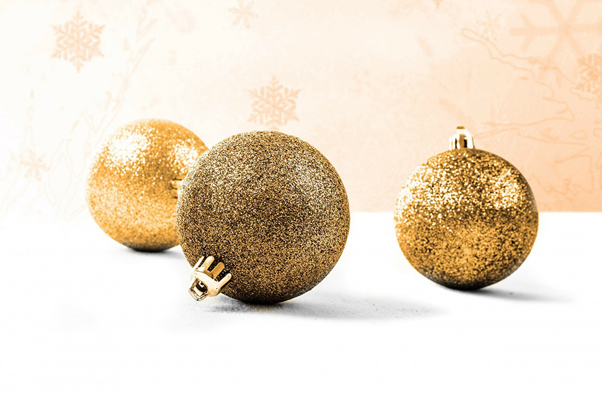 b2bcards corporate christmas eacrd ref:b2b-ecards-baubles-gold-899.jpg, Baubles, Gold