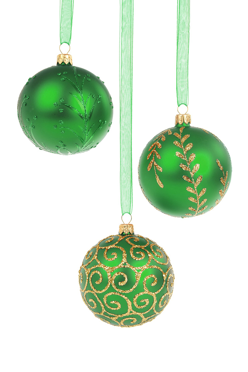 b2bcards corporate christmas eacrd ref:b2b-ecards-baubles-green-399.jpg, Baubles, Green