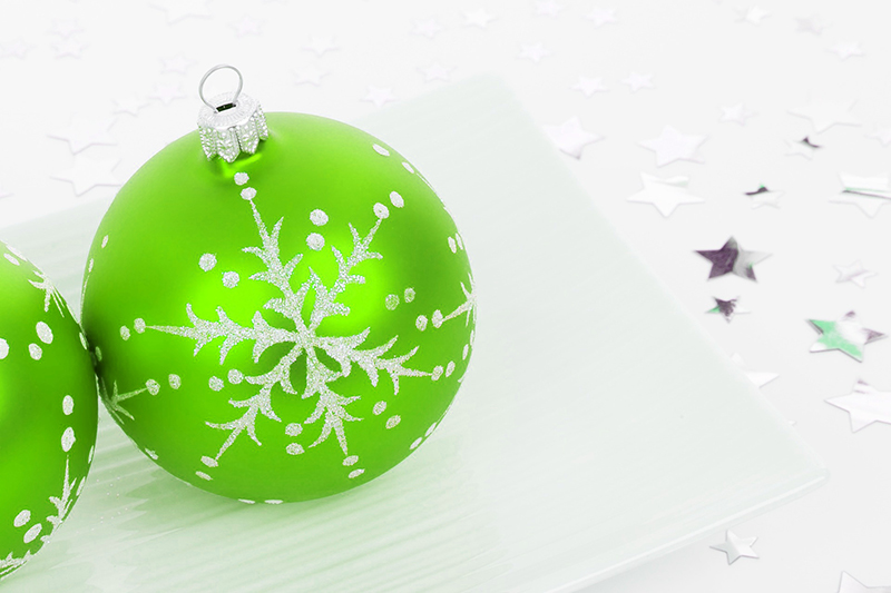 b2bcards corporate christmas eacrd ref:b2b-ecards-baubles-green-403.jpg, Baubles, Green