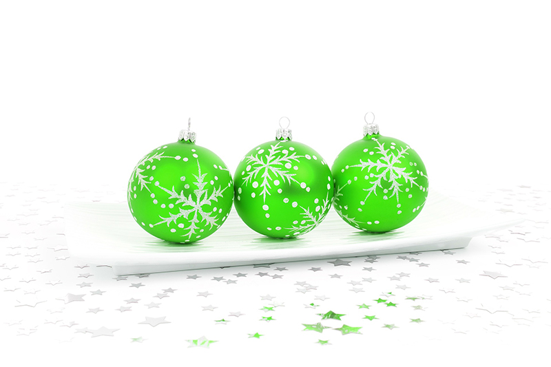 b2bcards corporate christmas eacrd ref:b2b-ecards-baubles-green-410.jpg, Baubles, Green