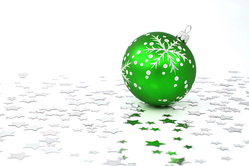 b2bcards corporate christmas eacrd ref:b2b-ecards-baubles-green-428.jpg, Baubles, Green