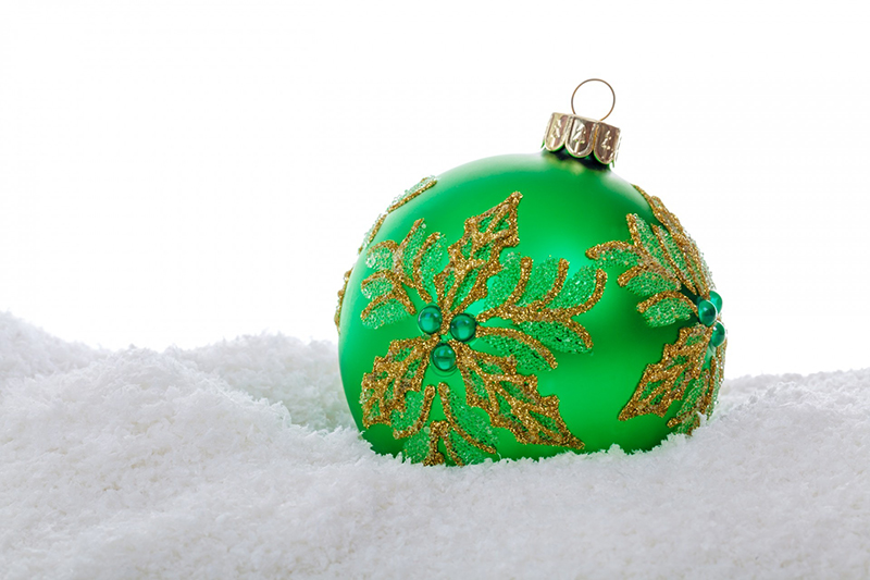 b2bcards corporate christmas eacrd ref:b2b-ecards-baubles-green-510.jpg, Baubles, Green