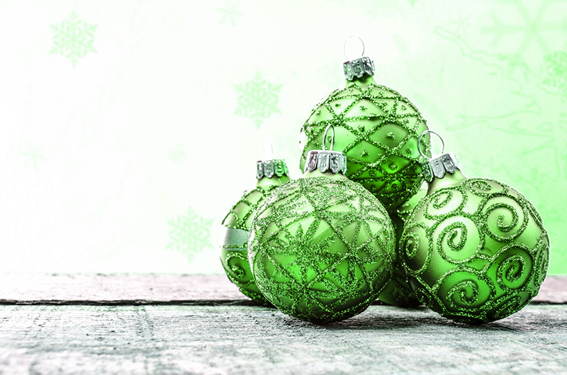 b2bcards corporate christmas eacrd ref:b2b-ecards-baubles-green-583.jpg, Baubles, Green
