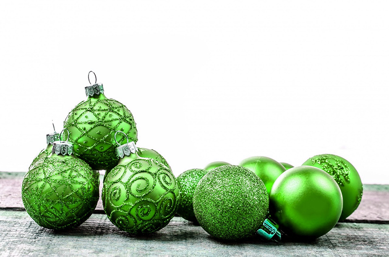b2bcards corporate christmas eacrd ref:b2b-ecards-baubles-green-589.jpg, Baubles, Green