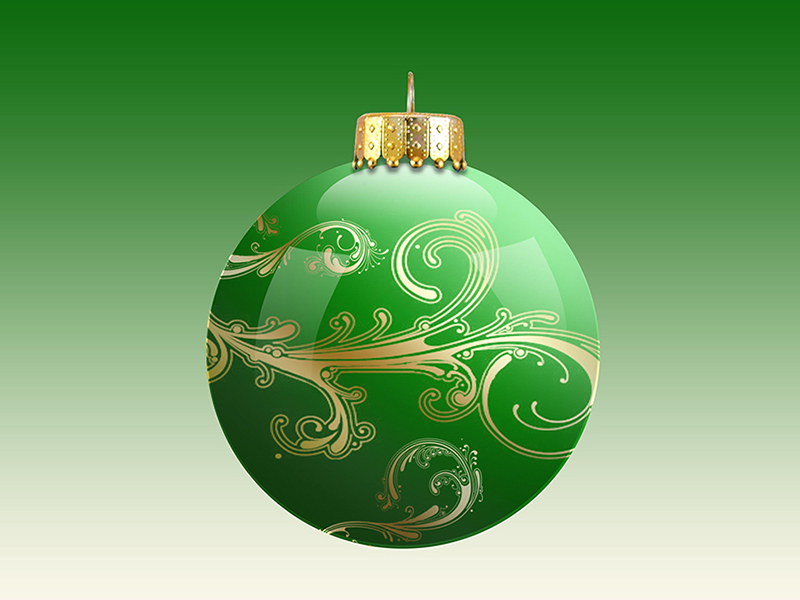b2bcards corporate christmas eacrd ref:b2b-ecards-baubles-green-608.jpg, Baubles, Green