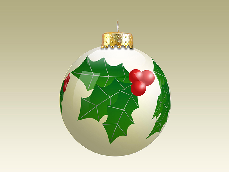 b2bcards corporate christmas eacrd ref:b2b-ecards-baubles-holly-berries-colours-609.jpg, Baubles,Holly,Berries, Colours