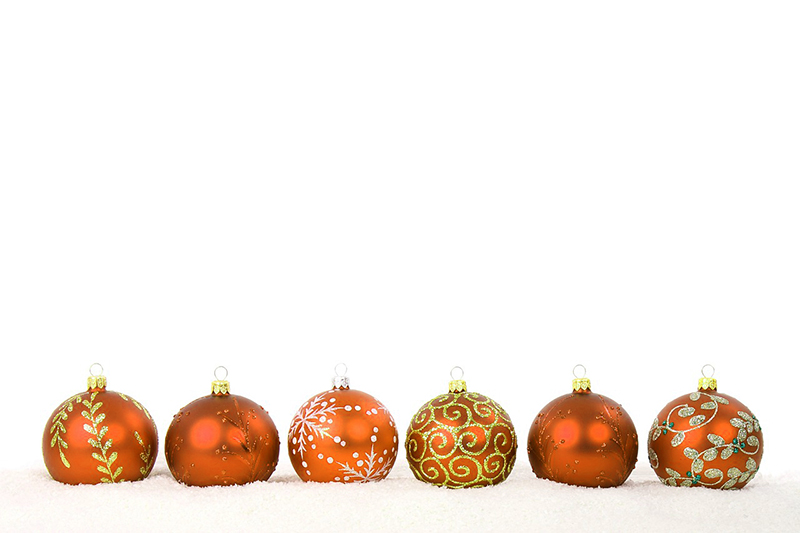 b2bcards corporate christmas eacrd ref:b2b-ecards-baubles-orange-383.jpg, Baubles, Orange