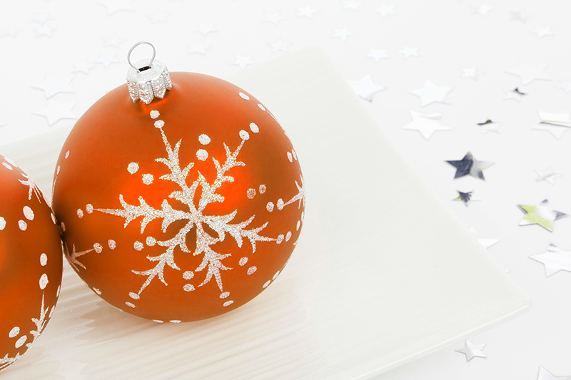 b2bcards corporate christmas eacrd ref:b2b-ecards-baubles-orange-402.jpg, Baubles, Orange