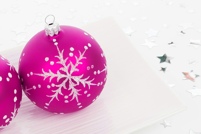b2bcards corporate christmas eacrd ref:b2b-ecards-baubles-pink-407.jpg, Baubles, Pink