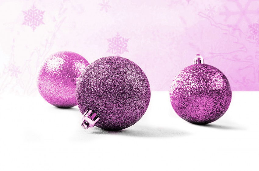 b2bcards corporate christmas eacrd ref:b2b-ecards-baubles-pink-917.jpg, Baubles, Pink