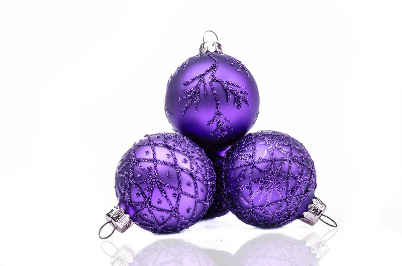 b2bcards corporate christmas eacrd ref:b2b-ecards-baubles-purple-577.jpg, Baubles, Purple