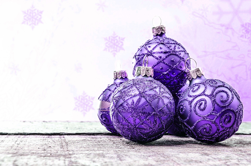 b2bcards corporate christmas eacrd ref:b2b-ecards-baubles-purple-586.jpg, Baubles, Purple