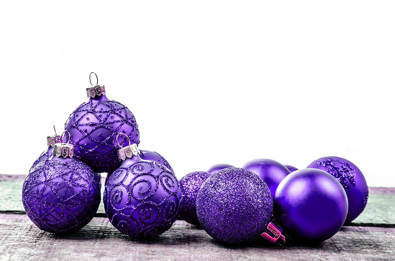 b2bcards corporate christmas eacrd ref:b2b-ecards-baubles-purple-593.jpg, Baubles, Purple