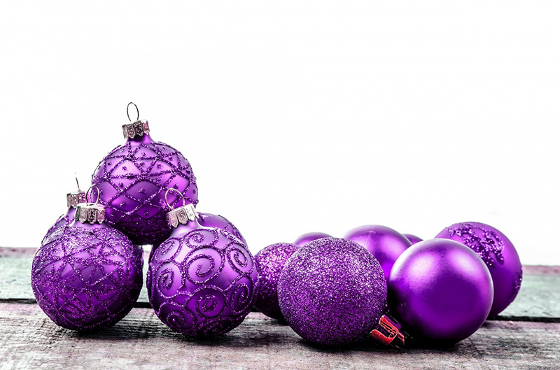 b2bcards corporate christmas eacrd ref:b2b-ecards-baubles-purple-594.jpg, Baubles, Purple