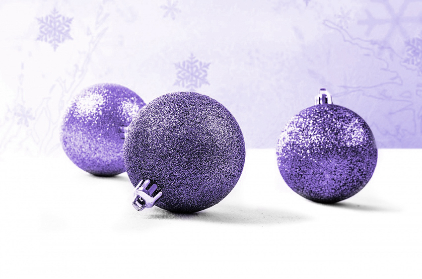 b2bcards corporate christmas eacrd ref:b2b-ecards-baubles-purple-lilac-916.jpg, Baubles, Purple,Lilac