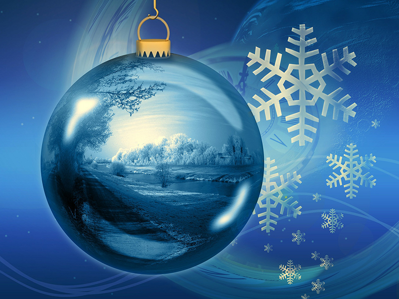 b2bcards corporate christmas eacrd ref:b2b-ecards-baubles-scenery-blue-738.jpg, Baubles,Scenery, Blue
