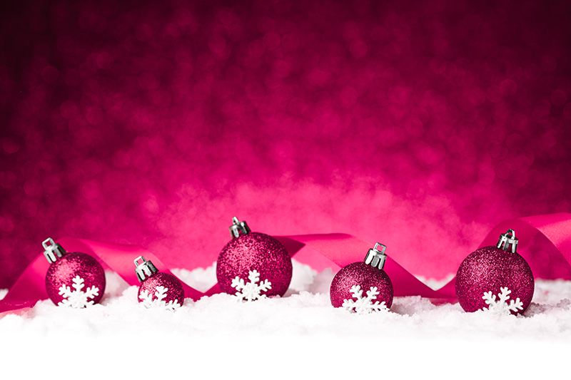 b2bcards corporate christmas eacrd ref:b2b-ecards-baubles-snow-pink-1014.jpg, Baubles,Snow, Pink