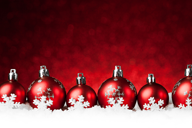 b2bcards corporate christmas eacrd ref:b2b-ecards-baubles-snow-red-1018.jpg, Baubles,Snow, Red