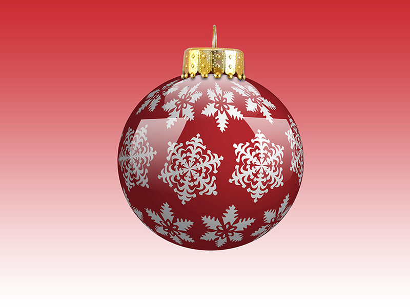 b2bcards corporate christmas eacrd ref:b2b-ecards-baubles-snowflakes-red-610.jpg, Baubles,Snowflakes, Red